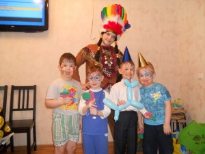 индеец на детский праздник
