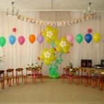 украшение гелиевыми шарами в детском саду