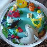 Торт детский в морском стиле