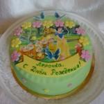 Торт с героями из мультфильмов на праздник