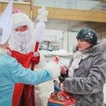 Дед Мороз поздравляет в Уфе