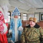 Дед Мороз на ЖД вокзале